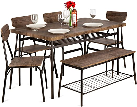 Amazon.com - Best Choice Products 6-Piece 55in Wooden Modern .