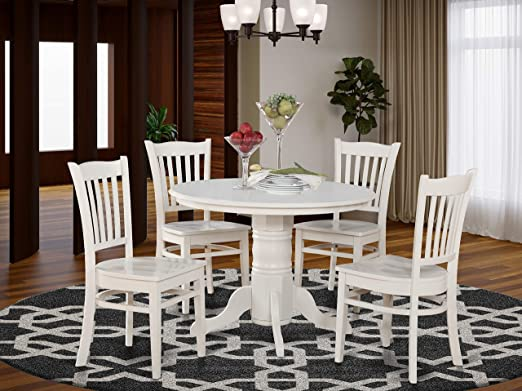 Amazon.com: 5 Pc small Kitchen Table and Chairs set-Round Table .