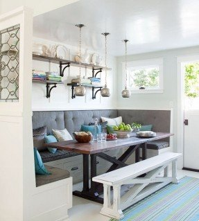 Dining Table Storage Bench - Ideas on Fot