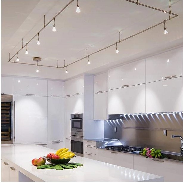 20 Kitchen Track Lighting Ideas to get Your Cooking on Tra