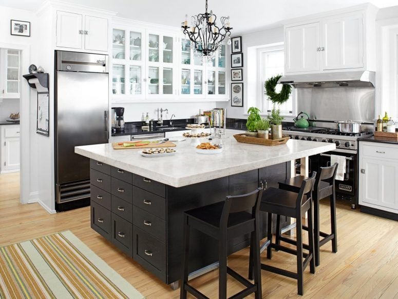 Kitchen, Large Kitchen Island With Seating Lovely White .