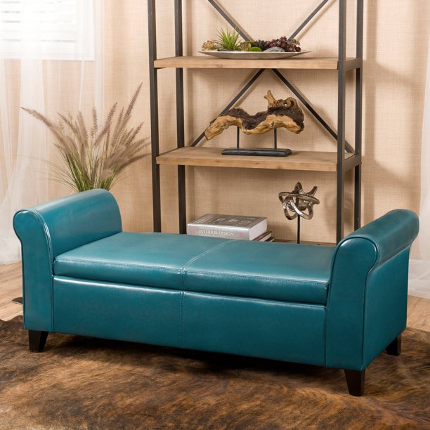 Martin Faux Leather Bedroom Bench with Storage - Walmart.com .