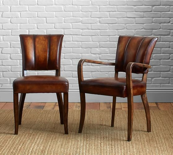 Elliot Leather Dining Chair | Leather dining room chairs, Dining .