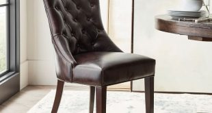 Hayes Tufted Leather Dining Chair | Pottery Ba
