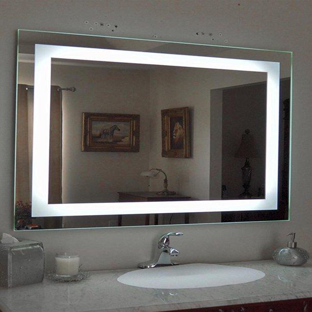 Ktaxon Anti-fog Wall Mounted Lighted Vanity Mirror LED Bathroom .
