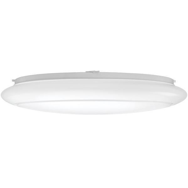 ETi 24 in. White Round LED Flush Mount Ceiling Light Kitchen .