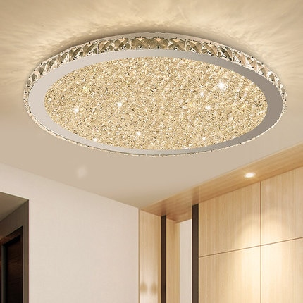 Modern K9 Crystal LED Flush Mount Ceiling Lights Fixture Mixed .
