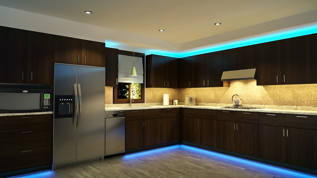 LED Kitchen Cabinet and Toe Kick Lighting - Contemporary - Kitchen .