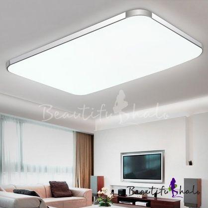 Aluminum Rectangle Flush Mount Light Contemporary LED Ceiling .