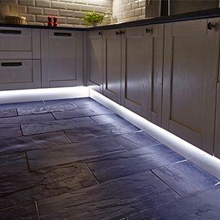 Flexible LED strip lighting for the kitchen from Hafele https .