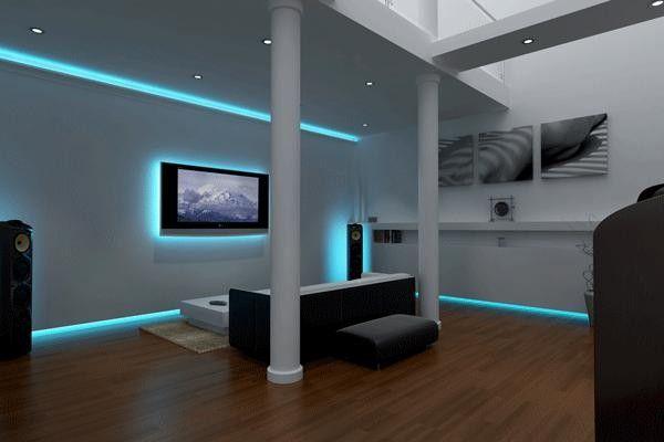 Home lighting: 25 Led lighting ideas | Led living room lights .