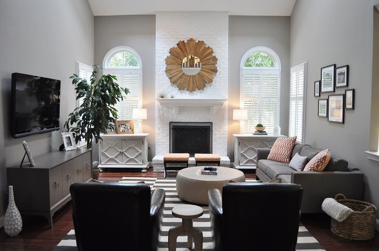 Gray Paint Colors - Transitional - living room - Benjamin Moore .