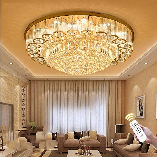 KALRI Luxury Crystal Chandelier LED Ceiling Lamp Flush Mount .