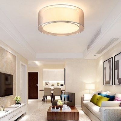 Drum Fabric Ceiling Light Living Room Contemporary Ceiling Light .