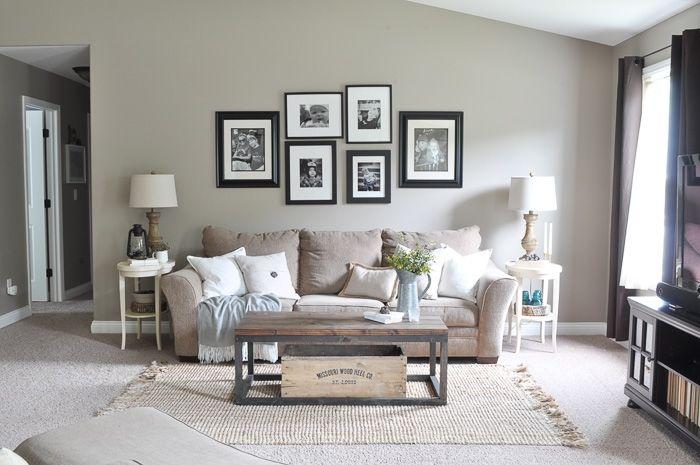Paint Makeover Reveal - Little Glass Jar   Living room paint .