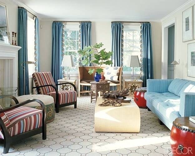 Living Room Drapes Curtains Ideas Modern Blue Curtain Window .