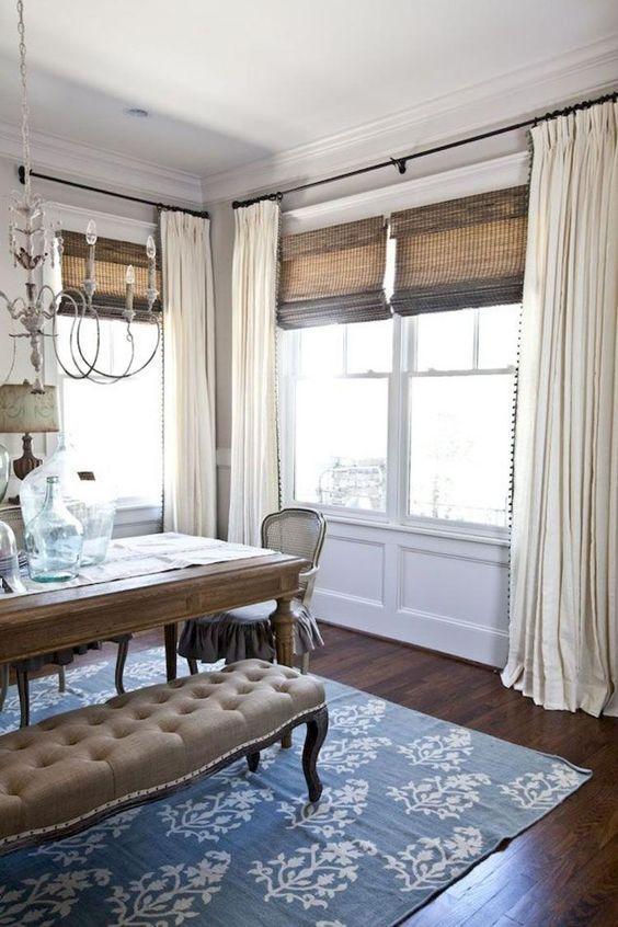 """Interiors's board """"Curtain ideas"""" on Pinterest. ... Overlapping ."""