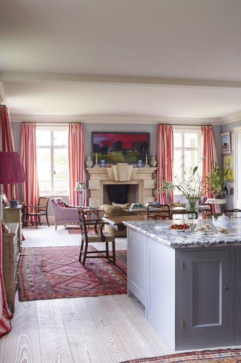 55 Inspiring Living Room Curtain Ideas - Elegant Window Drap