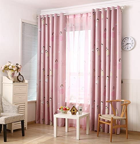 Amazon.com: LQF Country Home Decor Pink Curtains for Bedroom .