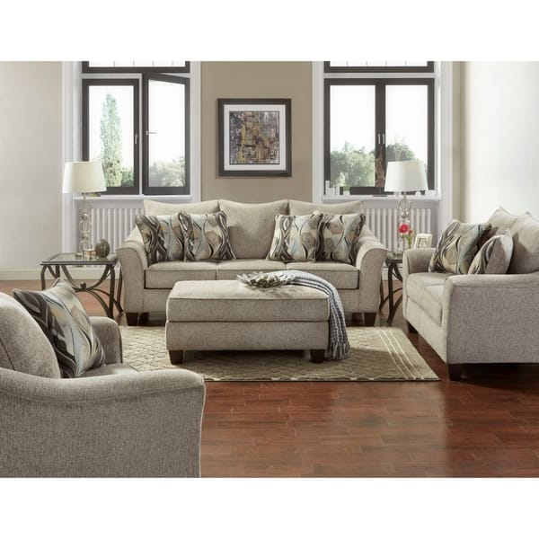 Shop Camero Fabric 4-piece Neutral Textured Living Room Set - On .
