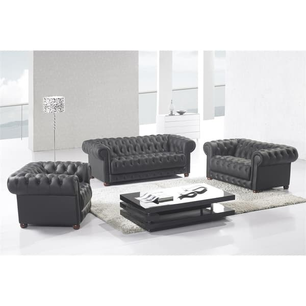 Shop Matte Black Modern Contemporary Real Leather Configurable .