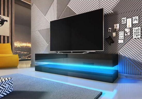 China Modern High Gloss Living Room LED Light TV Stands (HF .