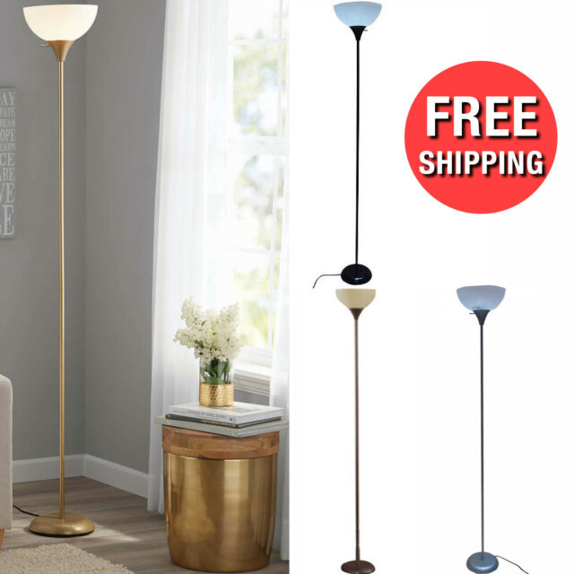 Floor Lamp, Brown Modern Living Room Light Shade Home Office Stand .