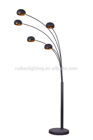 Modern Contemporary Floor Lamp 5 Arc Bulb Shade Light Lighting .