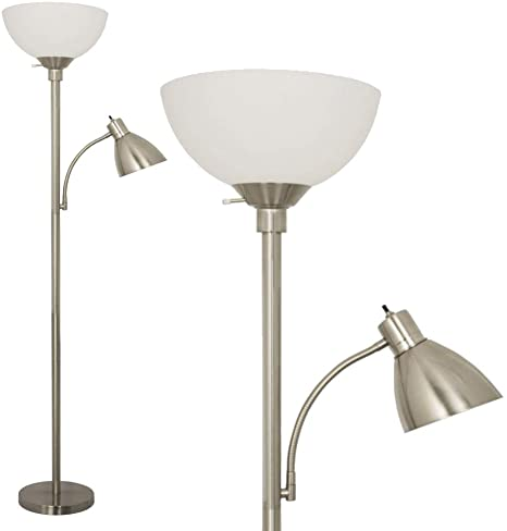 Floor Lamp with Reading Light by Light Accents - Metal Standing .