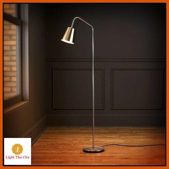 crane nickel slim Floor lamp bend light stand torch living room .