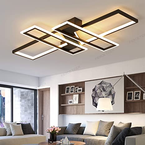 LED Living-Room Lamps Modern Dimmable Metal Ceiling Light Ceiling .