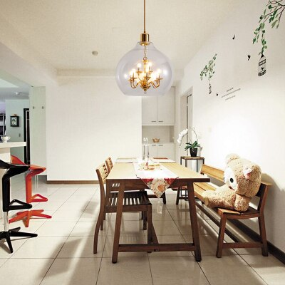 Nordic round living room pendant lamp creative personality post .
