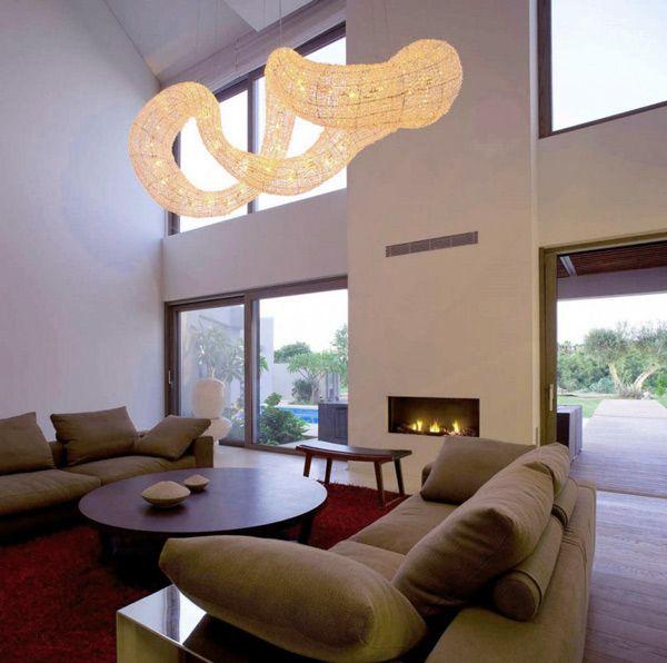Dramatic Pendant Light Effect - Living Room Interior | Interior .