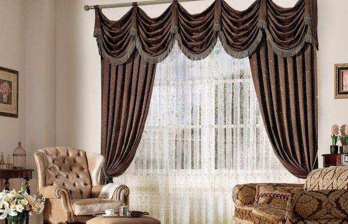 Brown Luxury Curtains For Living Room Modern Designer Elegant .