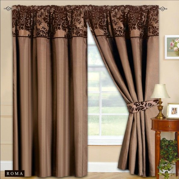 Attractive brown curtains for living room – Designalls in 2020 .