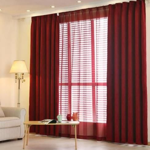 Chenille Red Crimson Maroon Curtains blackout Bedroom | Maroon .