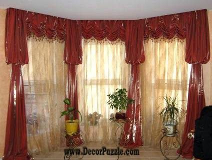 Luxurious Red Curtains for Living Room
