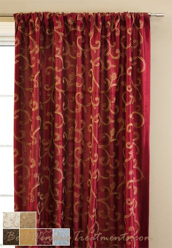 Stiletto Curtain Drapery Panels | Curtains, Drapery panels, Red .