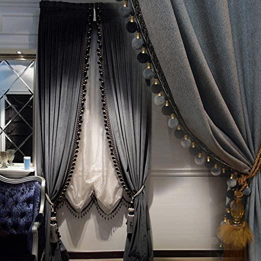 Amazon.com: Luxury Curtain for Living Room Blackout Velvet 2 .