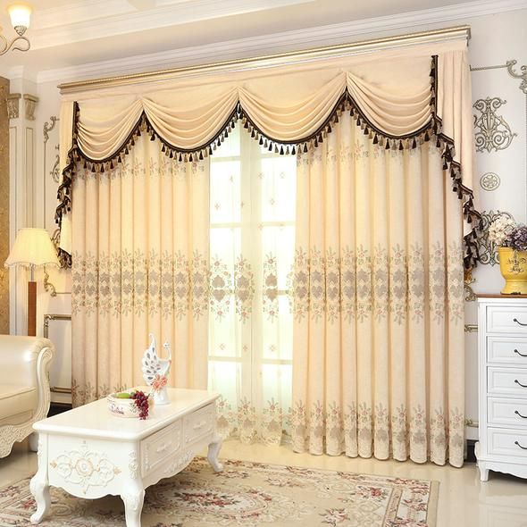Valance European Royal Luxury Valance Curtains for Living Room .