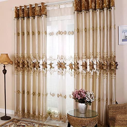Amazon.com: Hjmeifu Embroidery Window Treatment Sets Luxury .