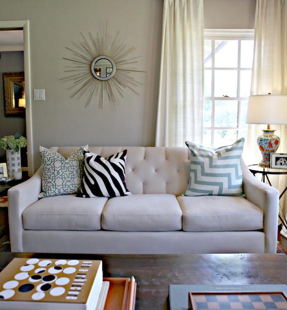 Macy's Chloe Sofa - Contemporary - living room - Behr Wheat Bread .