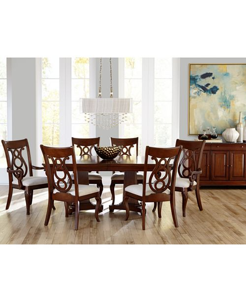 Furniture Closeout! Bordeaux Double Pedestal Dining Room Furniture .
