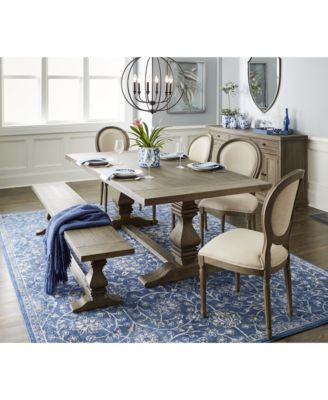 Furniture Tristan Trestle Dining Furniture, 4-Pc. Set (Trestle .