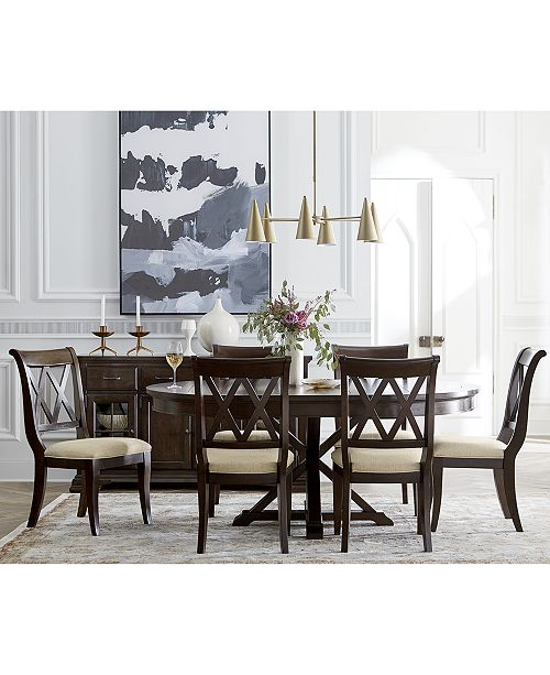 Furniture Baker Street Round Expandable Dining Furniture .