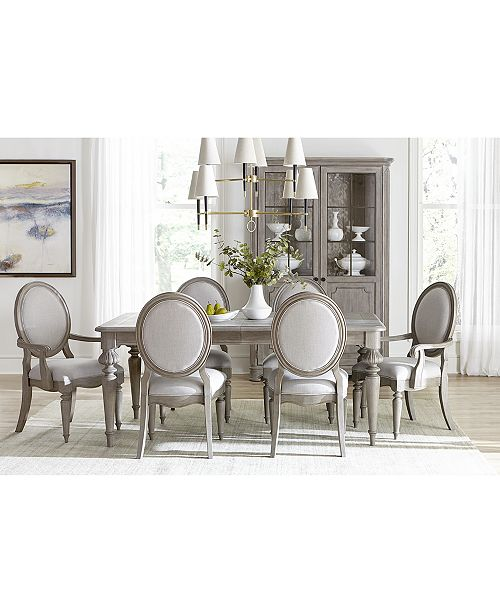 Furniture Elina Expandable Dining Furniture, 7-Pc. Set (Dining .