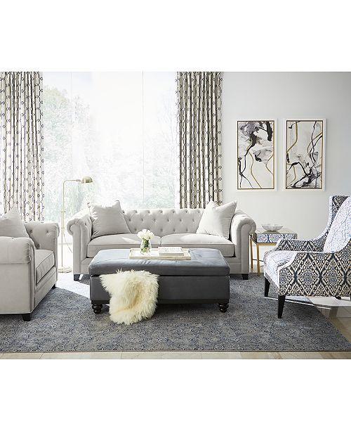 "Martha Stewart Collection Saybridge 92"" Fabric Sofa, Created for ."