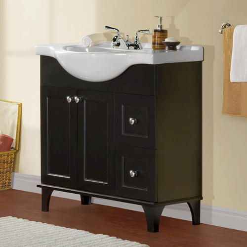 """Magick Woods 34"""" Concord Collection Vanity Ensemble at Menards ."""