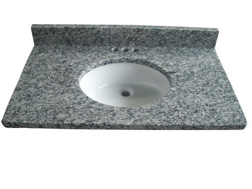 """Tuscany® 37""""W x 22""""D Granite Vanity Top with Oval Undermount Bowl ."""