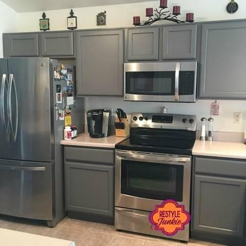Custom Gray Kitchen Cabinets | Grey kitchen cabinets, New kitchen .